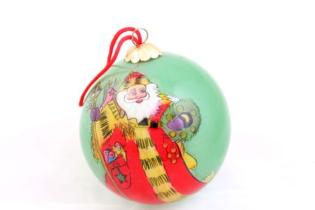 santa claus christmas tree ornament ball photo