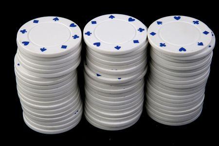 texas holdem: three texas holdem poker chips stacks