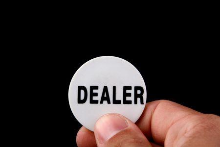 dealer button in poker game