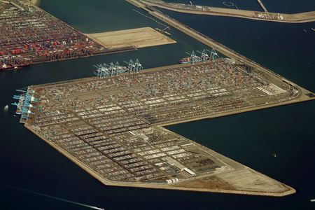 cargo container terminal, long beach