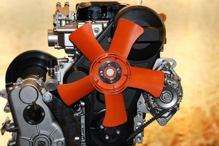 Gas engine fan red cooling fan