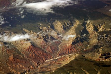 converging: converging valleys in a grand canyon