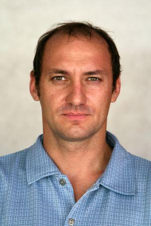 man portrait facing the camera