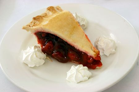 cherry pie with whipped cream