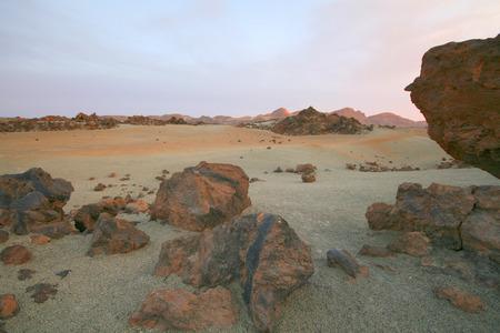 canarias: lunar desert landscape on canarias island, tenerife