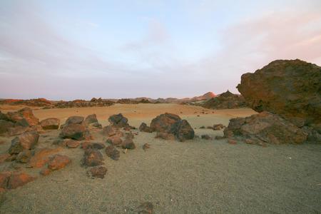 canarias: mars desert landscape on tenerife, canarias island Stock Photo