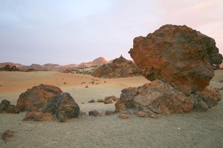 canarias: meteorite on mars planet landscape, tenerife, canarias