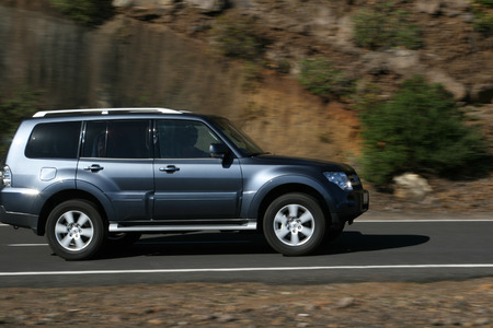 SUV car on the road