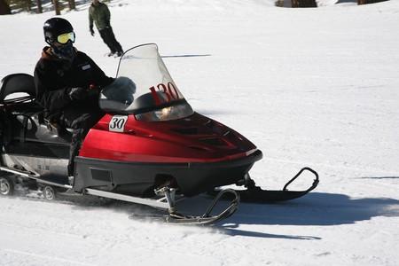 snowmobile at ski ressort