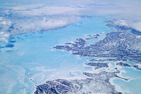 ocean of ice by greenland coast
