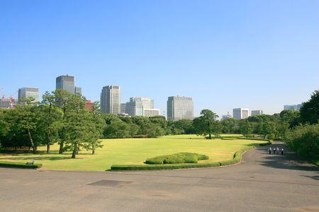 tokyo Parc garden and buildings