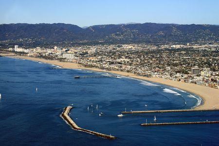 marina del rey harbor entrance in California