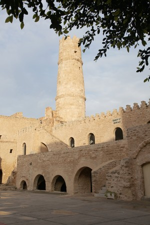 fortress tower in sousse city, tunisia Standard-Bild