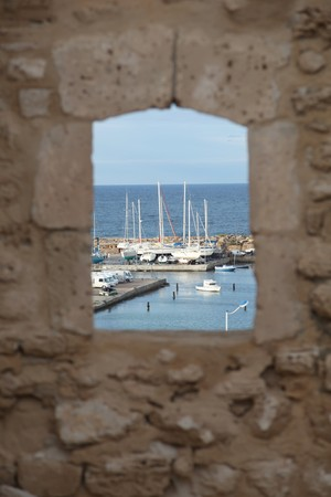 marina by sousse fortress in Tunisia  Standard-Bild