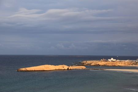 tunisian coast on mediterranean sea