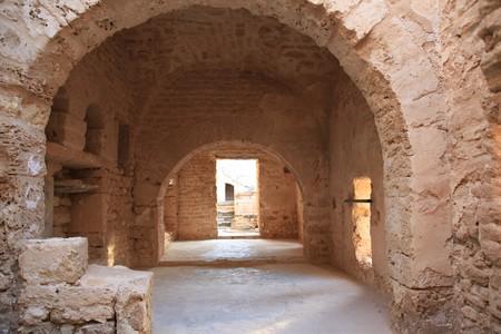 ancient castle arched ceiling room Standard-Bild