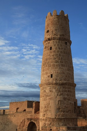 watch tower in a tunisan stone castle