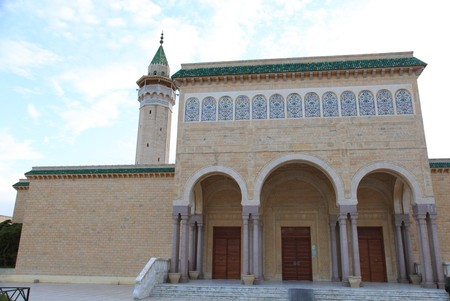 tunisian mosque in sousse city