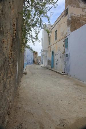 dirt street in a tunisian town
