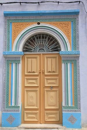 tunisian door full of colors