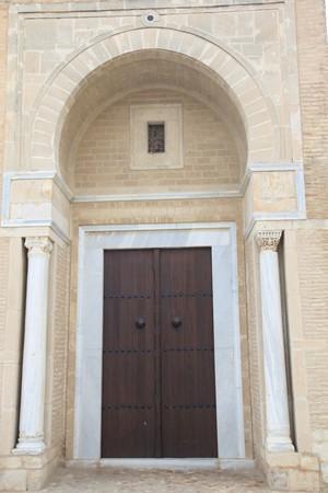 mosque door in tunisian city