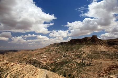 tunisian desert mountain village landscape