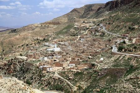 tunisian village in the desert mountains