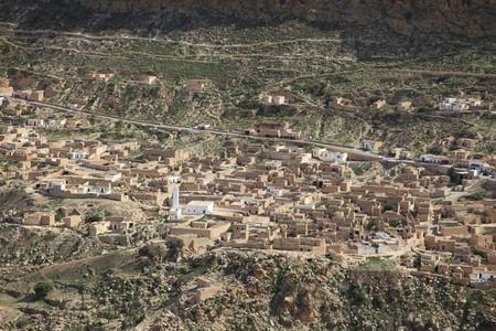 old stone village in africa desert mountain