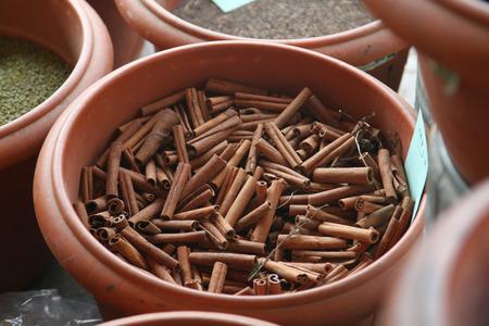 cinnamon in a tunisian market Standard-Bild