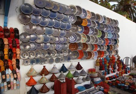 arabic handicrafts souk market Standard-Bild