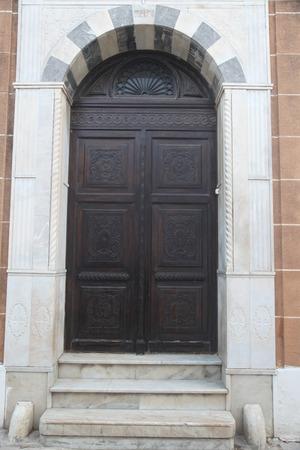 wooden door in arabic style