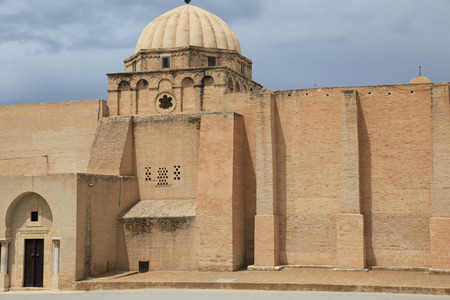 mosque wall in a tunisian muslim city Stock Photo
