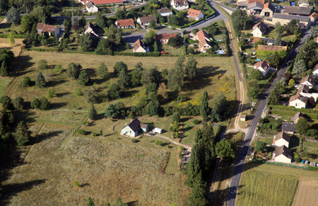 france country suburbs, aerial view