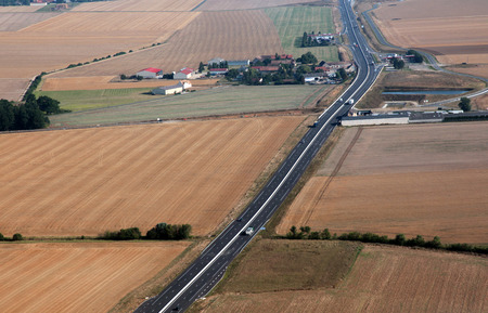 tollway: country highway in France Stock Photo