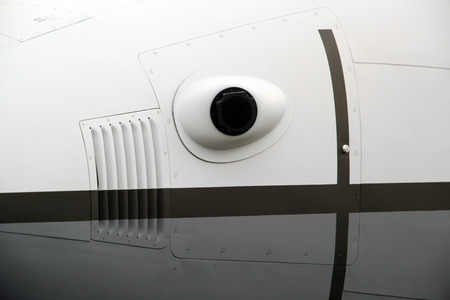 thermal camera on the nose of an airplane
