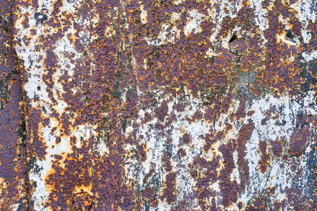Abstract multicolored rusty metal background or corroded metal texture.