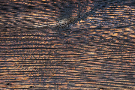 Closeup pattern of old oak wood for background or old wooden texture. Dark old oak for vintage table or furniture texture. More than a hundred years old wood. Natural pattern. Copy space.