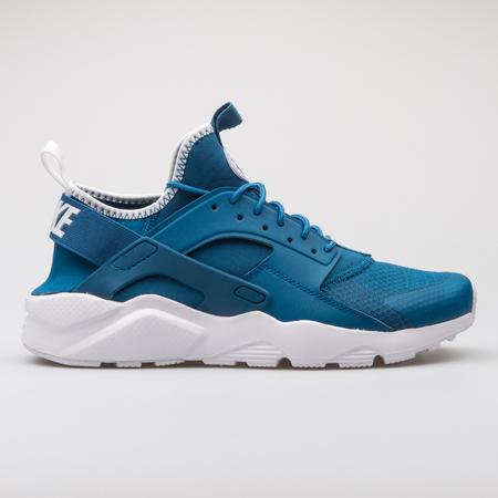 f06b25b83b VIENNA, AUSTRIA - AUGUST 7, 2017: Nike Air Huarache Run Ultra blue sneaker