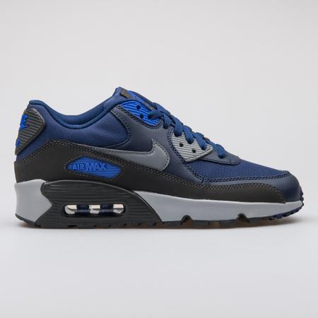1f4da863 VIENNA, AUSTRIA - AUGUST 7, 2017: Nike Air Max 90 Mesh blue sneaker
