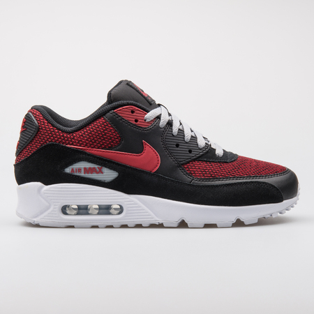 8b58d500 Stock Photo - VIENNA, AUSTRIA - AUGUST 7, 2017: Nike Air Max 90 Ultra black  and red sneaker on white background.