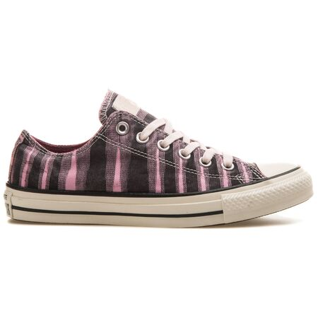 VIENNA, AUSTRIA - AUGUST 25, 2017: Converse Chuck Taylor Missoni OX pink and black sneaker on white background. 報道画像