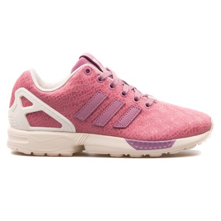 buy popular 9ae36 c5d7f VIENNA, AUSTRIA - AUGUST 25, 2017: Adidas ZX Flux pink and white..