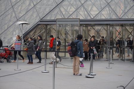 louvre: Entrance of the Louvre Museum in Paris