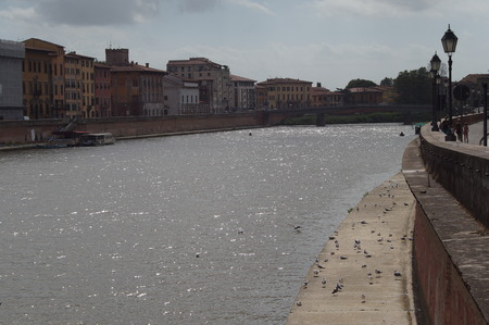 arno: View of River Arno in Pisa