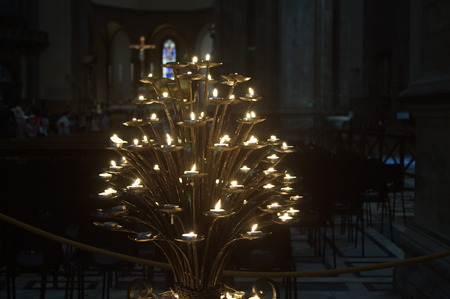candelabrum: Candelabrum in the Cathedral of Florence Editorial