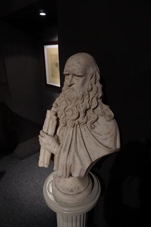 leonardo da vinci: Bust of Leonardo da Vinci
