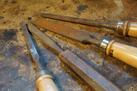 chisels: Working tools - Chisels Stock Photo