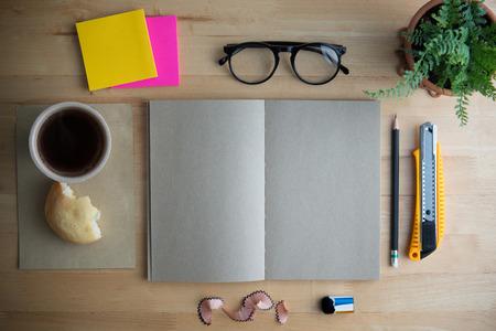 desk work: Office desk Stock Photo