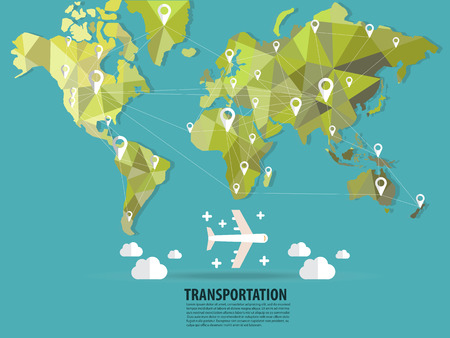 south asia: World transportation flats