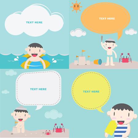 cloude: Cute boy on the beach I   Kids